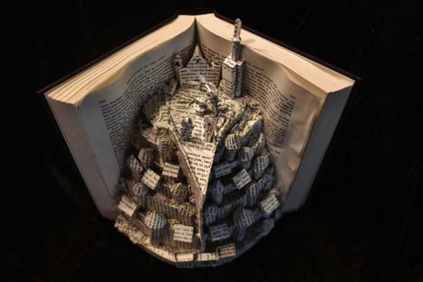 Βιβλία μετατρέπονται σε γλυπτά που ζωντανεύουν (6)