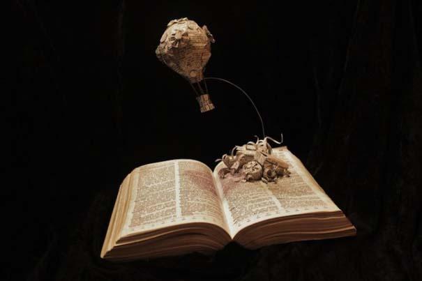 Βιβλία μετατρέπονται σε γλυπτά που ζωντανεύουν (7)