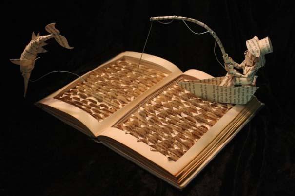 Βιβλία μετατρέπονται σε γλυπτά που ζωντανεύουν (8)