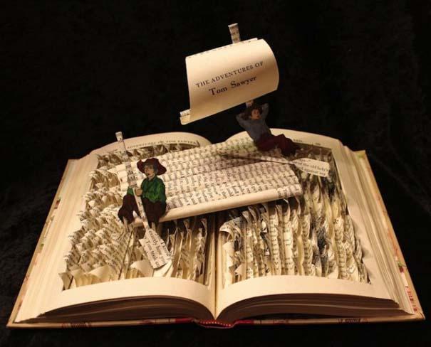 Βιβλία μετατρέπονται σε γλυπτά που ζωντανεύουν (9)