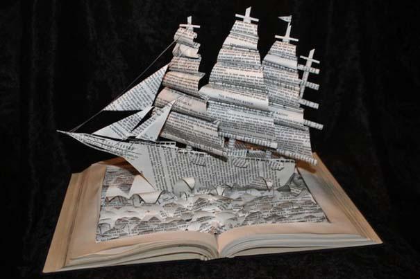 Βιβλία μετατρέπονται σε γλυπτά που ζωντανεύουν (10)