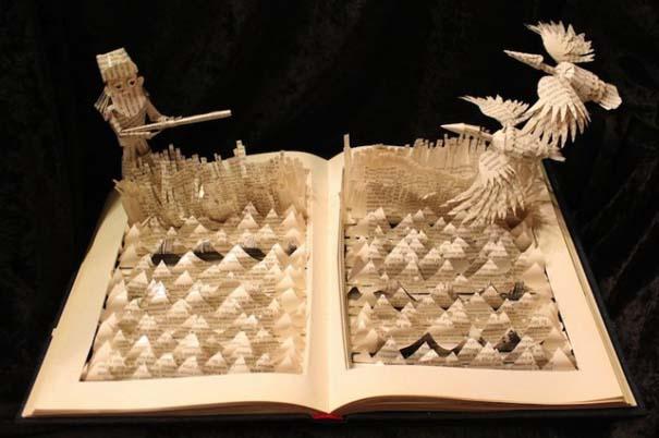 Βιβλία μετατρέπονται σε γλυπτά που ζωντανεύουν (11)