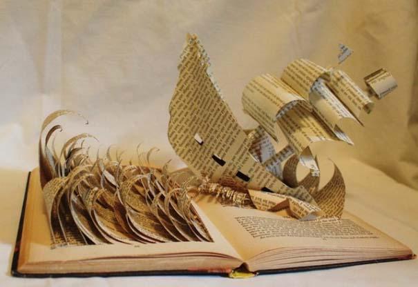 Βιβλία μετατρέπονται σε γλυπτά που ζωντανεύουν (12)
