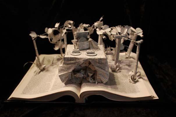 Βιβλία μετατρέπονται σε γλυπτά που ζωντανεύουν (13)