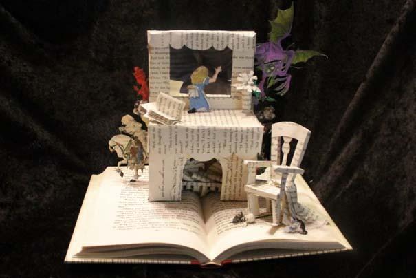 Βιβλία μετατρέπονται σε γλυπτά που ζωντανεύουν (16)