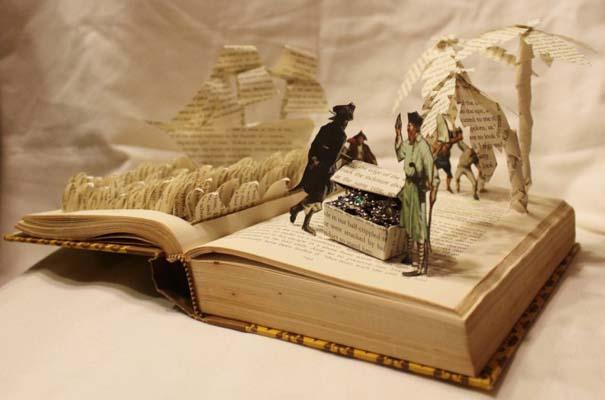 Βιβλία μετατρέπονται σε γλυπτά που ζωντανεύουν (21)