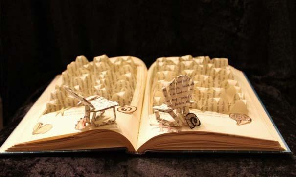 Βιβλία μετατρέπονται σε γλυπτά που ζωντανεύουν (22)
