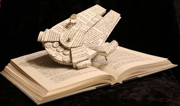 Βιβλία μετατρέπονται σε γλυπτά που ζωντανεύουν (23)
