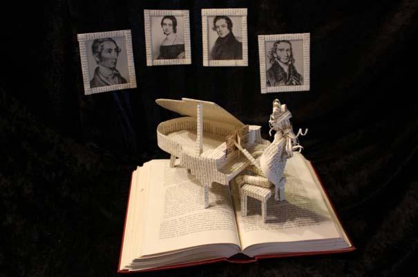 Βιβλία μετατρέπονται σε γλυπτά που ζωντανεύουν (24)