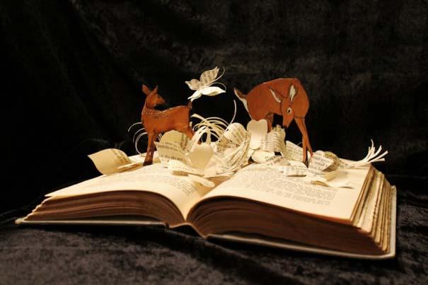 Βιβλία μετατρέπονται σε γλυπτά που ζωντανεύουν (26)