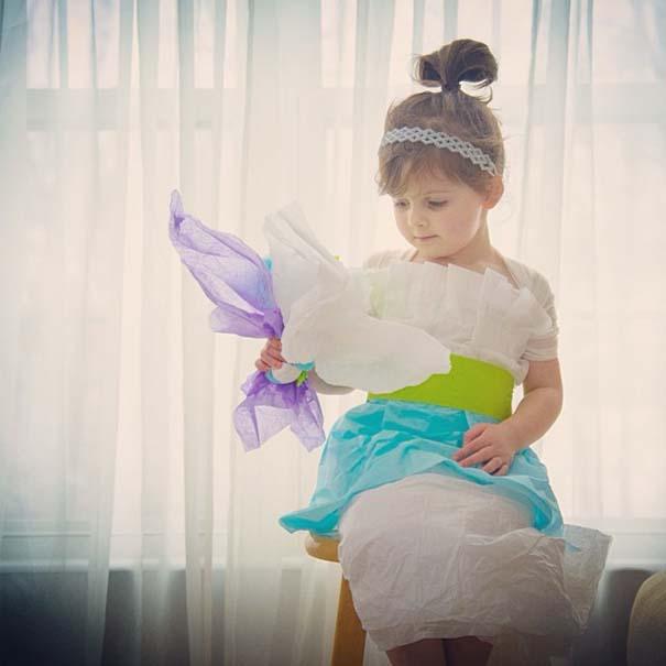 4χρονη δημιουργεί με τη μητέρα της εκπληκτικά φορέματα από χαρτί (4)