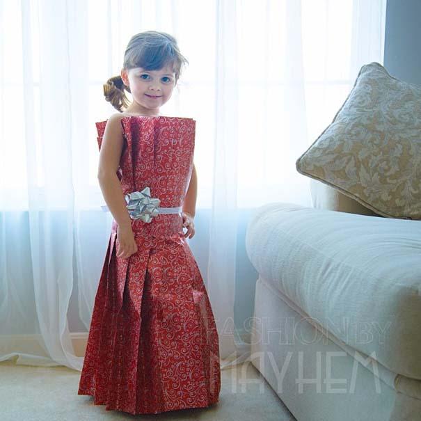 4χρονη δημιουργεί με τη μητέρα της εκπληκτικά φορέματα από χαρτί (5)