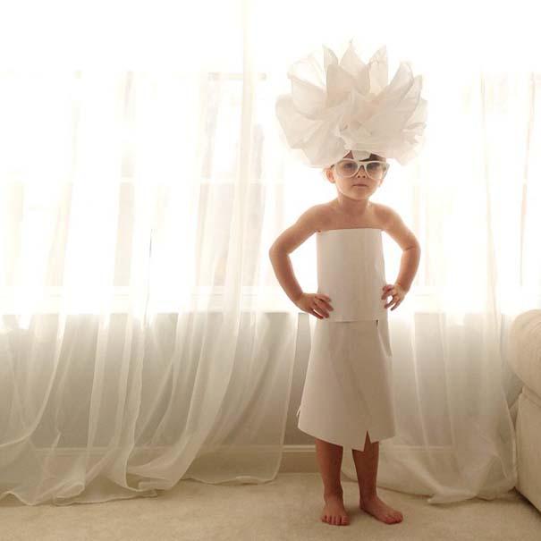 4χρονη δημιουργεί με τη μητέρα της εκπληκτικά φορέματα από χαρτί (8)