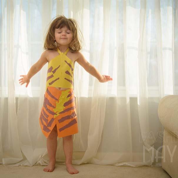 4χρονη δημιουργεί με τη μητέρα της εκπληκτικά φορέματα από χαρτί (13)