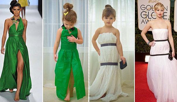4χρονη δημιουργεί με τη μητέρα της εκπληκτικά φορέματα από χαρτί