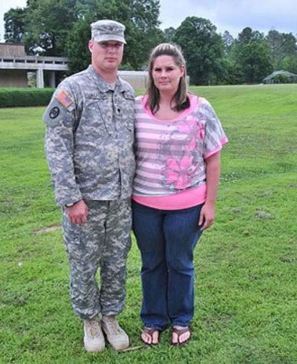 Έκπληξη γυναίκας στρατιωτικού στον άνδρα της (4)