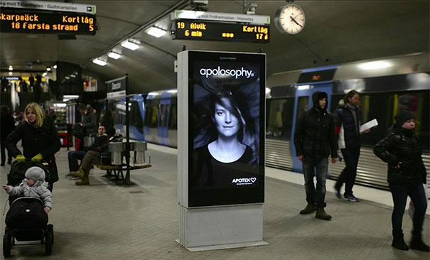 Εκπληκτική διαφήμιση σε στάση του μετρό