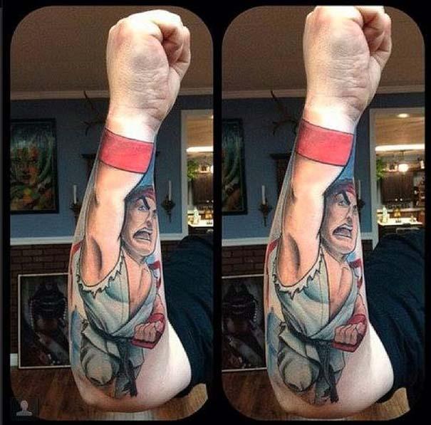 Εντυπωσιακό τατουάζ οφθαλμαπάτη εμπνευσμένο από το Street Fighter (2)