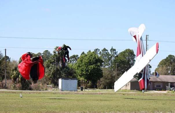 Καρέ καρέ η σύγκρουση ενός skydiver με αεροπλάνο στον αέρα (9)