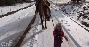 Κοριτσάκι έβγαλε για βόλτα το πιο φιλικό άλογο στον κόσμο (Video)