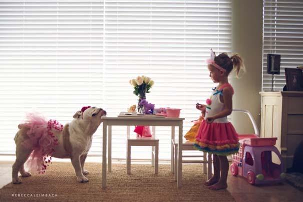 Κοριτσάκι με αγγλικό bulldog (8)