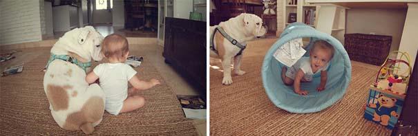 Κοριτσάκι με αγγλικό bulldog (12)