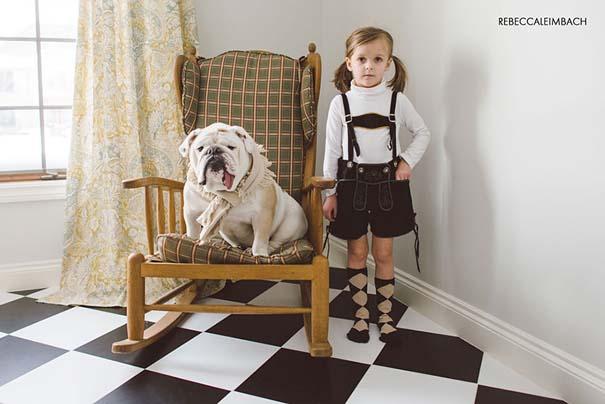 Κοριτσάκι με αγγλικό bulldog (16)