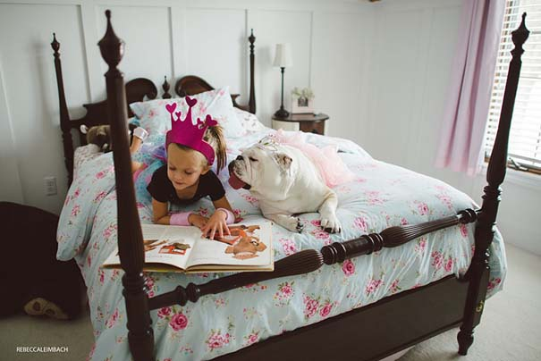 Κοριτσάκι με αγγλικό bulldog (19)