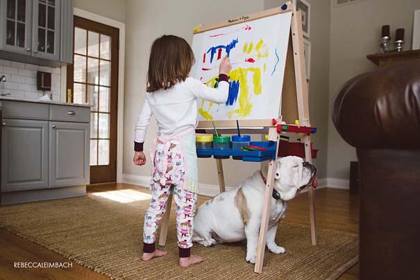 Κοριτσάκι με αγγλικό bulldog (23)