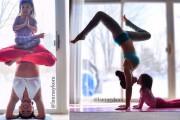 Μητέρα και 4χρονη κάνουν Yoga