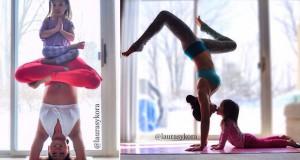Μητέρα και η 4χρονη κόρη της έγιναν διάσημες κάνοντας μαζί Yoga
