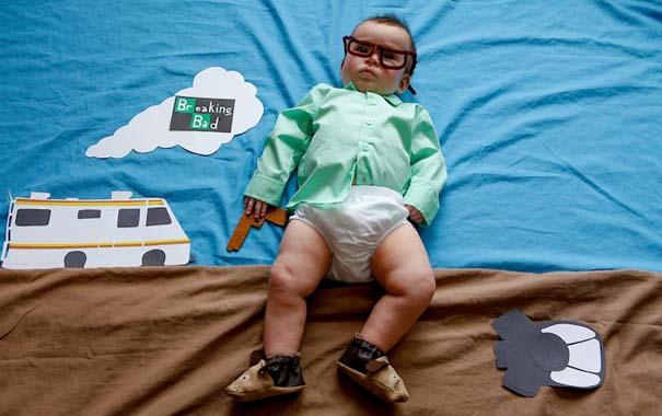 Μωρό μεταμφιέζεται σε διάσημους χαρακτήρες τηλεοπτικών σειρών (4)