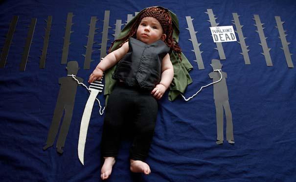 Μωρό μεταμφιέζεται σε διάσημους χαρακτήρες τηλεοπτικών σειρών (5)