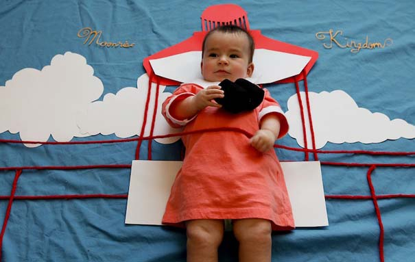 Μωρό μεταμφιέζεται σε διάσημους χαρακτήρες τηλεοπτικών σειρών (7)