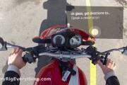 Οδήγηση μοτοσυκλέτας φορώντας Google Glass