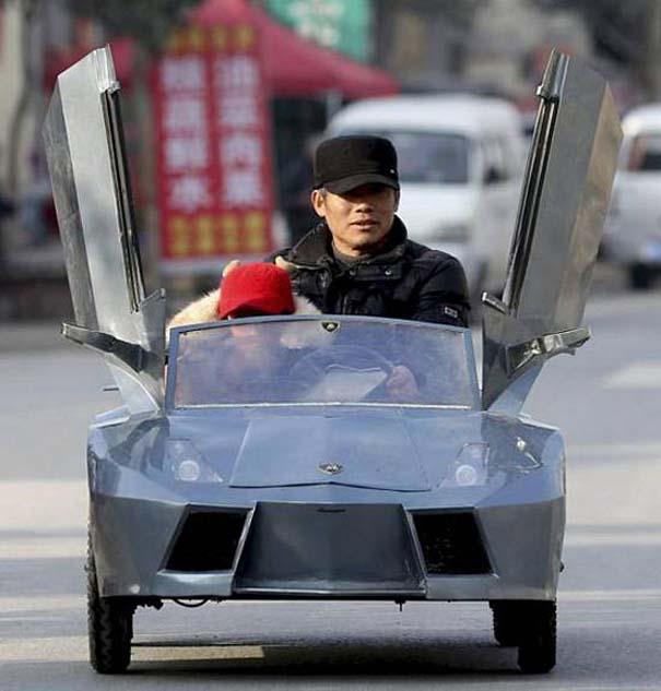 Παππούς από την Κίνα έφτιαξε Lamborghini για να πηγαίνει τον εγγονό του στο σχολείο (1)
