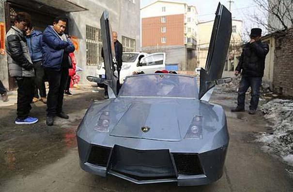 Παππούς από την Κίνα έφτιαξε Lamborghini για να πηγαίνει τον εγγονό του στο σχολείο (6)