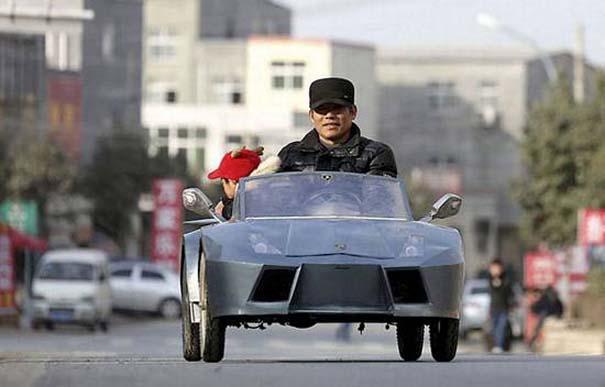 Παππούς από την Κίνα έφτιαξε Lamborghini για να πηγαίνει τον εγγονό του στο σχολείο (7)