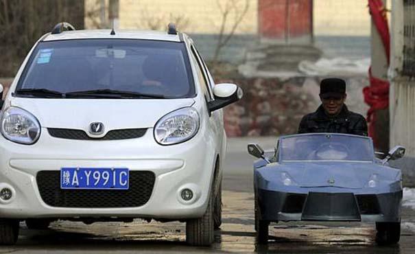 Παππούς από την Κίνα έφτιαξε Lamborghini για να πηγαίνει τον εγγονό του στο σχολείο (8)
