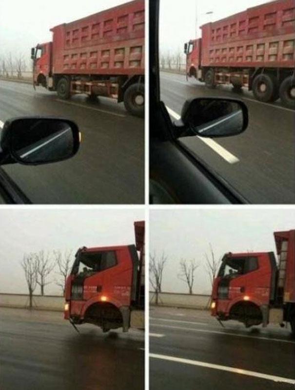 Σαν τρελό φορτηγό... | Φωτογραφία της ημέρας