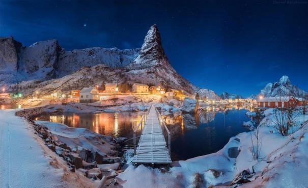Μια βραδιά στο Lofoten της Νορβηγίας   Φωτογραφία της ημέρας