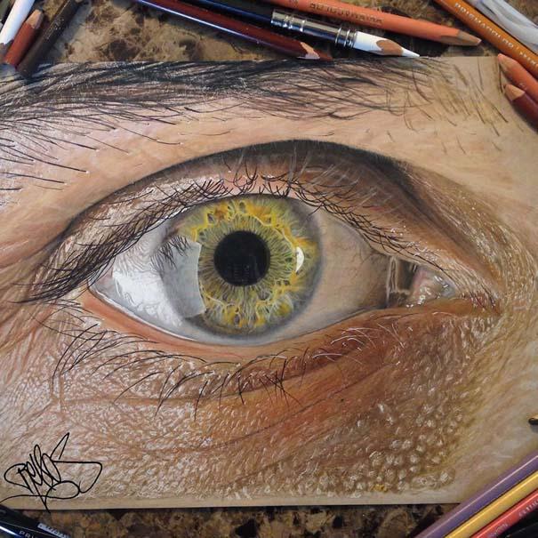 Υπερρεαλιστικές ζωγραφιές ματιών με χρωματιστά μολύβια (1)