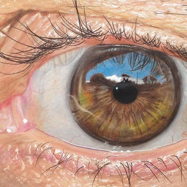 Υπερρεαλιστικές ζωγραφιές ματιών με χρωματιστά μολύβια (3)