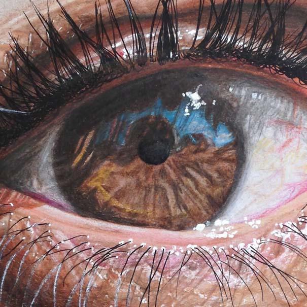 Υπερρεαλιστικές ζωγραφιές ματιών με χρωματιστά μολύβια (5)