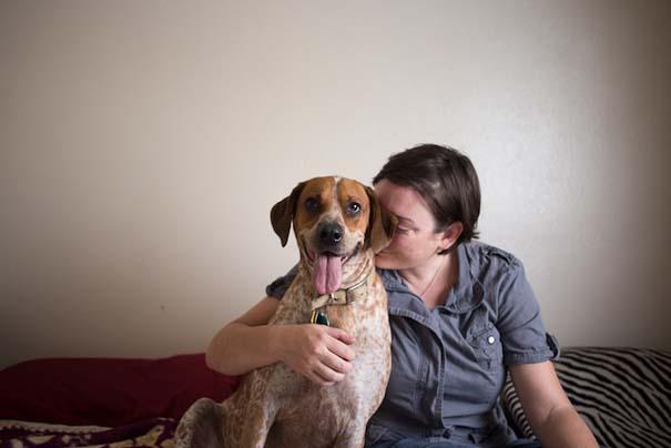 Ζώα από καταφύγια φωτογραφίζονται με τους ανθρώπους που τα υιοθέτησαν (9)