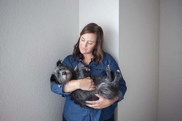 Ζώα από καταφύγια φωτογραφίζονται με τους ανθρώπους που τα υιοθέτησαν (13)