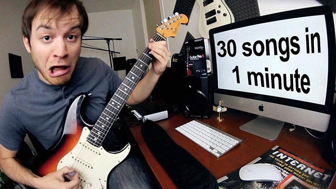 30 τραγούδια σε 1 λεπτό