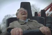 78χρονη γιαγιά ανεβαίνει για πρώτη φορά σε roller coaster