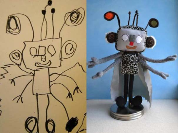 Αν οι παιδικές ζωγραφιές μετατρέπονταν σε παιχνίδια (15)