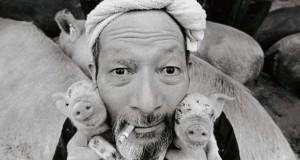 Η μοναδική σχέση ενός αγρότη με τα γουρούνια του
